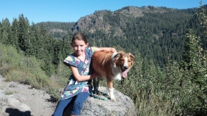 Avi on John Muir Trail w:Lucy