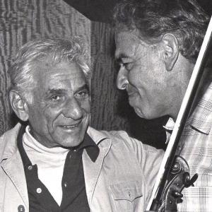 Dad with Leonard Bernsteind?
